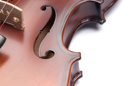 violin isolated on white Standard-Bild