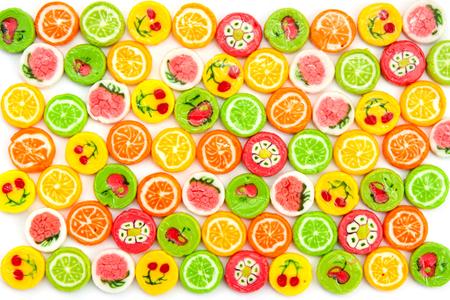 sugarplum: many different tasty candies, background