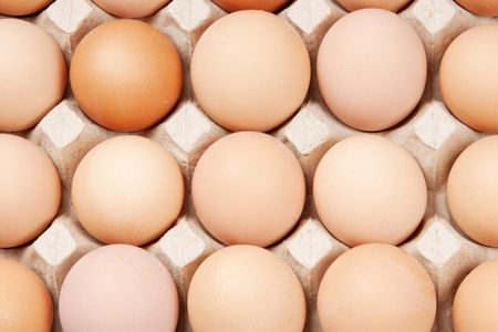 many brown eggs, background
