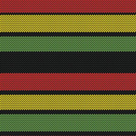 jamaica: knitted rastafarian stripes multi colored seamless pattern