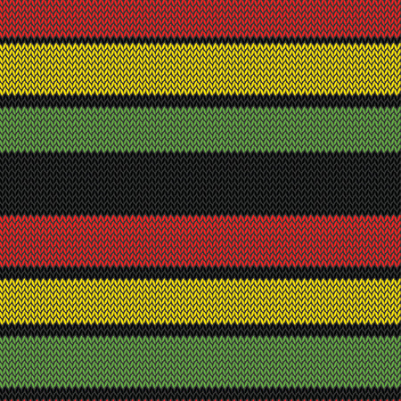 knitted rastafarian stripes multi colored seamless pattern