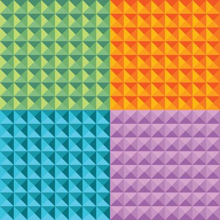 multi: set of geometric triangle seamless multi colored patterns Illustration
