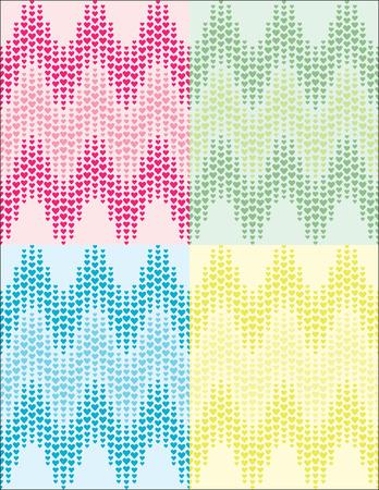 multi: set of romantic multi coloured heart pattern Illustration