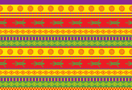 mexican ethnicity: vivid seamless vector pattern with mexican ornaments Illustration