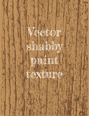 floorboard: texture of crackled paint on wood in brown color scheme Illustration