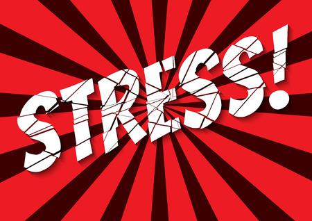 craquelure: banni�re style r�tro avec bris� mot de stress