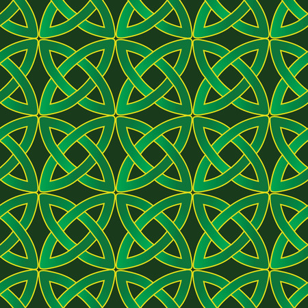wiccan: stylized celtic pattern on dark green background