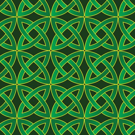 stylized celtic pattern on dark green background