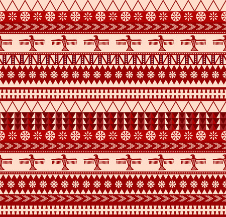 indigenous north american style vector seamless pattern Vector