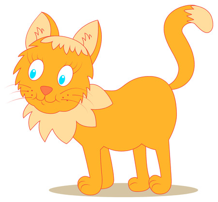 funny looking ginger cat on isolated background Vector