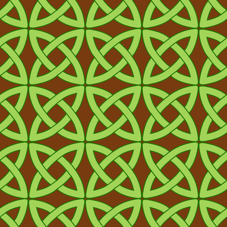 wiccan: vector seamless pattern with traditional celtic motives