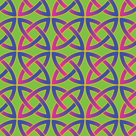 wiccan: seamless pattern with modern variant of traditional celtic ornament