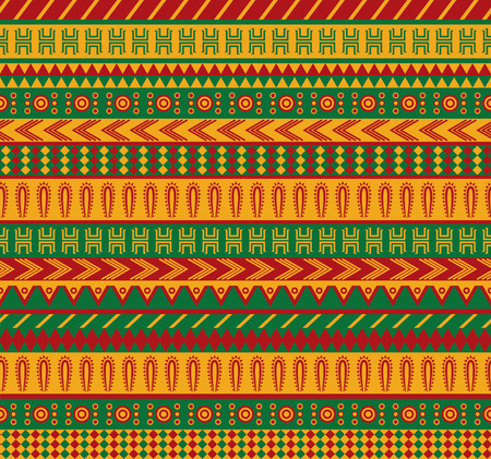 vector seamless pattern with traditional mexican elements