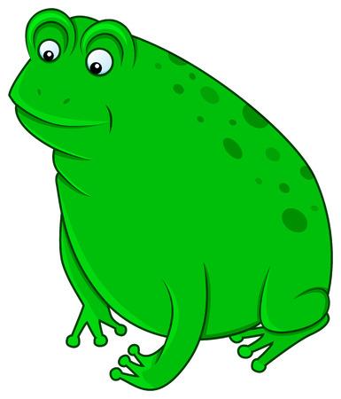smiling frog: divertido personaje rana sonriente en el fondo aislado