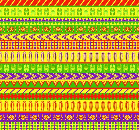 canlı renkli: canlı renk düzeni Meksika tarzı Vektörün semaless desen