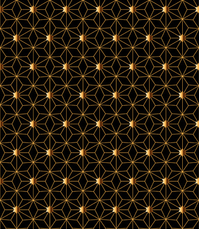 exquisite art deco seamless vector pattern in gold and black colors