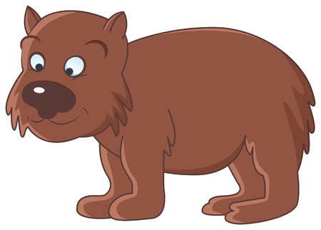 image of funny brown wombat on isolate background Vector