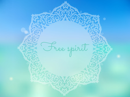 free spirit: beautiful summer poster with mandala and free spirit text