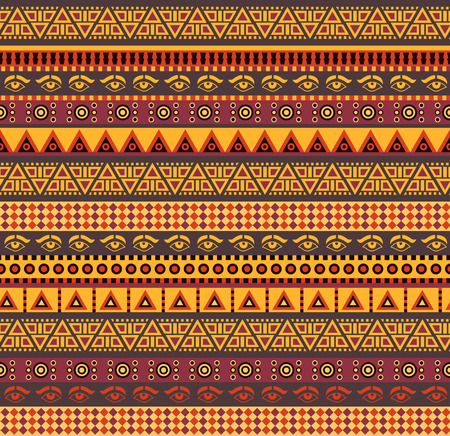 mayan: amazing african vector seamless pattern with geometric elements