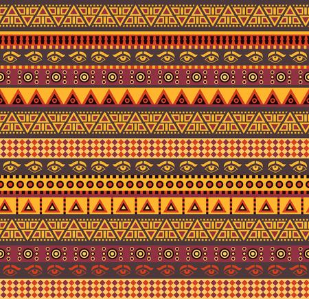 cultura maya: incre�ble vector africano patr�n con los elementos geom�tricos Vectores