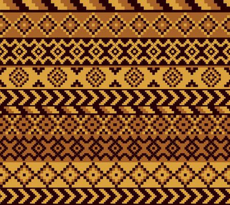 pixeled: vector seamless african pattern with geometric elements