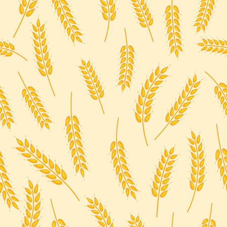 vector seamless pattern with images of wheat ears Illustration