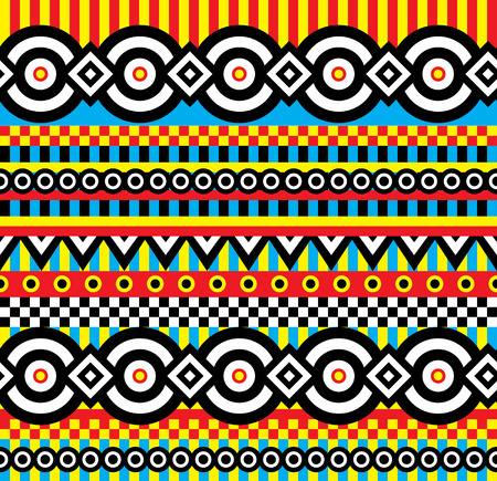 vector seamless abstract pattern in vivid colors Vector