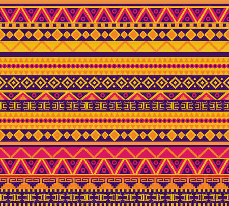 bright vector seamless pattern in tribal style