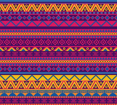 cultura maya: brillante vector patrón transparente en estilo mexicano