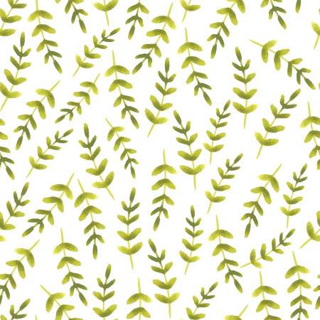 naive: vector seamless pattern with naive hand drawn branches Illustration