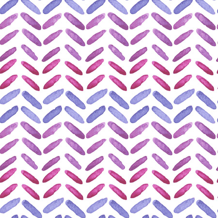 lovely hand drawn watercolor seamless pattern with ornament of herringbone Illustration