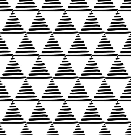 minimalist style: vector seamless pattern in minimalist style with hand drawn triangles