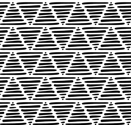 minimalist: vector seamless pattern in minimalist style with hand drawn triangles on isolated background Illustration