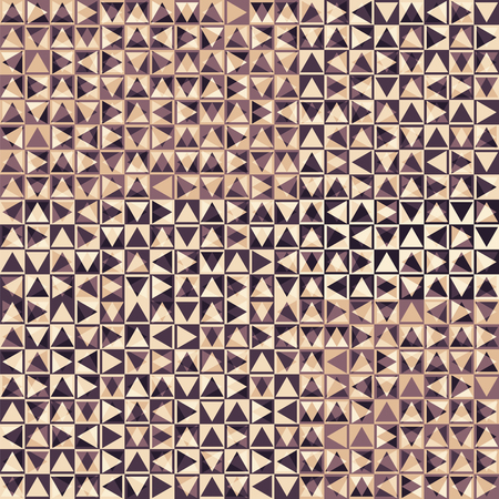 textile industry: brown vector seamless pattern with triangles, layered dimensional effect, print for a textile industry