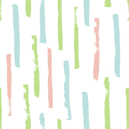 vector seamless pattern, pastel grunge stripes on white background Иллюстрация