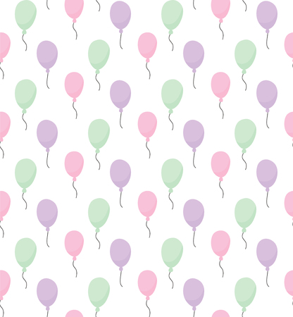 vector seamless pattern with beautiful balloons