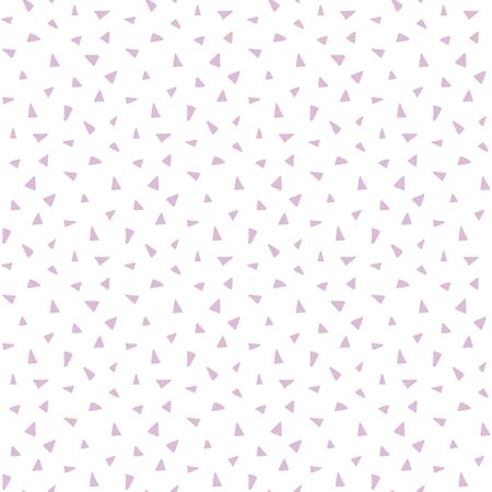 vector seamless pattern with cute little triangles on a white background