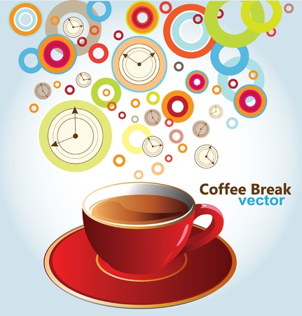 coffee time: Vector illustration of coffee pause