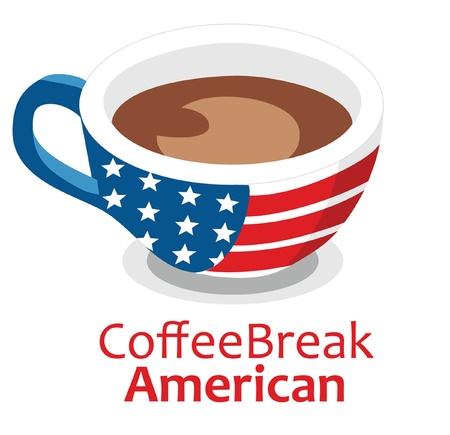 Vector American Coffee break