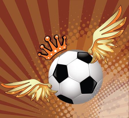 Vector soccer ball winner