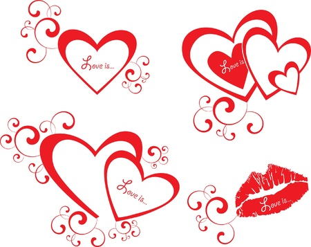 valentine: vector valentine background with heart