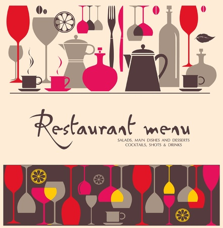 Vector. Restaurant Menü-Design Vektorgrafik