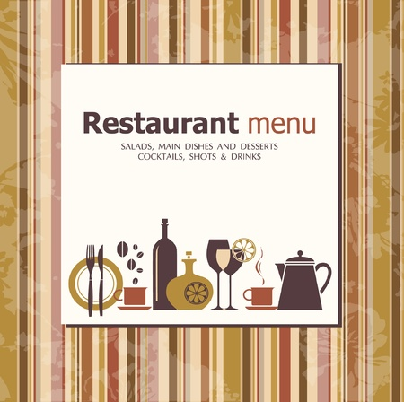 fork glasses: Vector. Restaurant menu Design