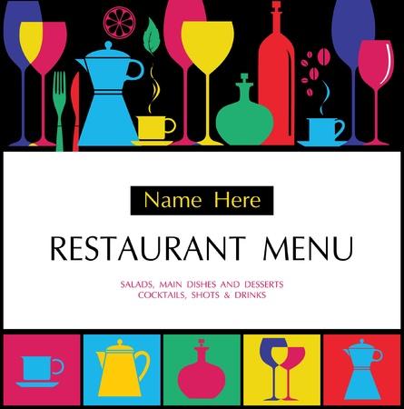 uitnodigen: Vector. Menu van het restaurant ontwerp Stock Illustratie