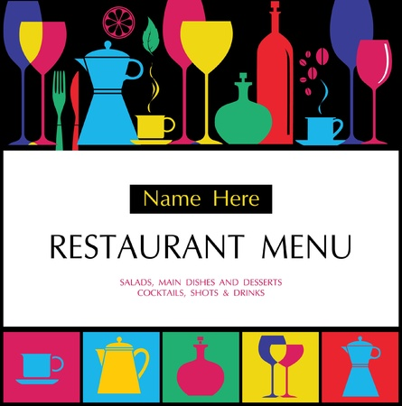 menu card: Vector. Restaurant menu design