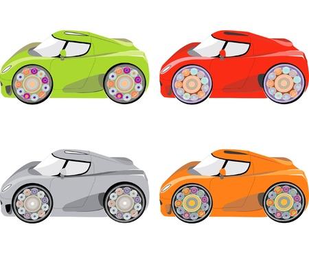 complete set van auto vector