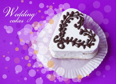 kiss biscuits: Wedding cake