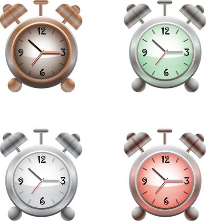 old time: Old time analog alarm clock Illustration