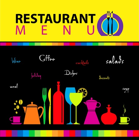 Restaurant menu design  Illustration