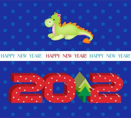 Card new year Vector